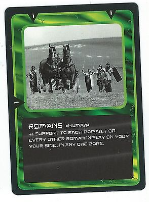 Doctor Who Black Border CCG Card Romans Green Background Human Card Good