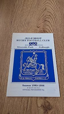 Jed-Forest v Gala 1994 Rugby Union Programme