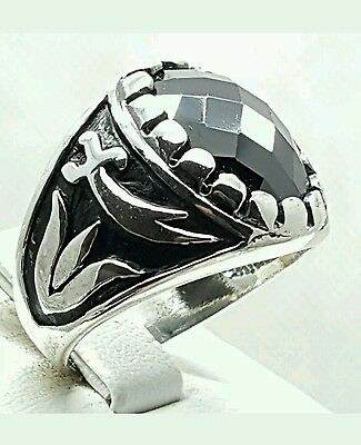 925 Genuine Sterling Silver Mens Ring Uk Size S