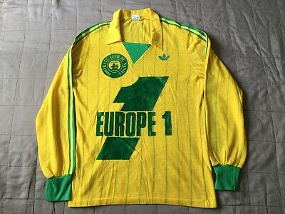 vintage adidas FC Nantes football shirt 80's bob marley made in france like new