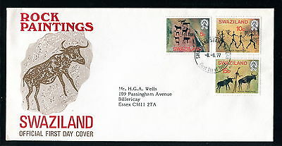 1977 Swaziland FDC. Rock Paintings. First Day Cover