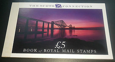 UK Stamps Scots Connection Stamp Book 5 Pound Mint ~ Complete
