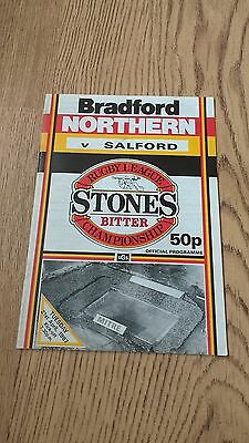 Bradford Northern v Salford April 1987 Rugby League Programme