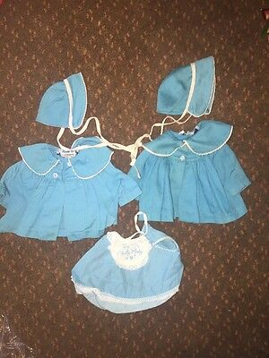 Tiny Chatty Baby- Chatty Cathy- Baby Romper, Coats and Hat Original 1962 W/ Tags