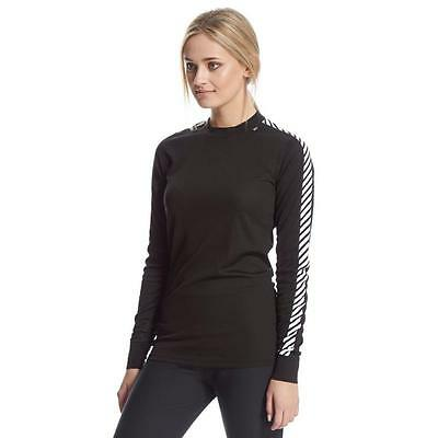 NEW Helly Hansen Black Dry Lifa Base Layer Women Size 14 L Thermal Skiing Snow