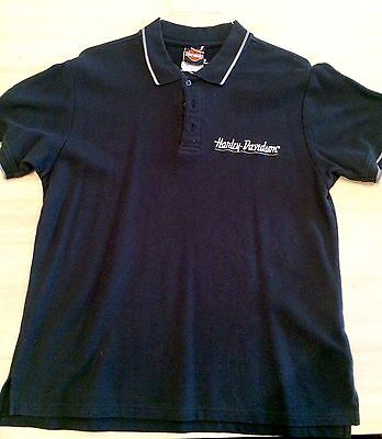 Men's Harley Davidson Black Polo Staff Event Shirt - Size Large