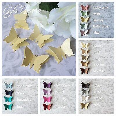 20 Large Shimmer 3D Elegant Butterfly Confetti Table Decoration Wedding Toppers