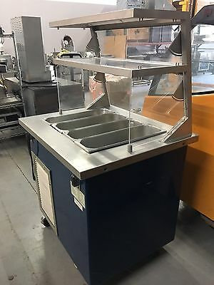"Delfield 36"" Cold Salad Bar Buffet Lunch table"