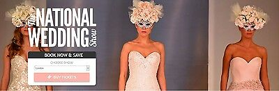 2 x National Wedding Show ANY DAY E Ticket EventCity Manchester Sat 11 Sun 12 th