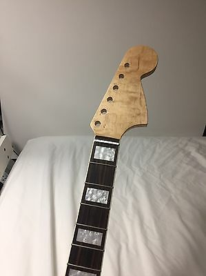 Replacement neck for Jaguar or Mustang ( Flame Maple AAAAA++++)