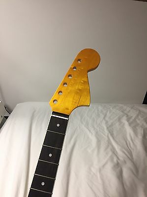 Replacement neck for Jaguar or Mustang ( Flame Maple AAA)