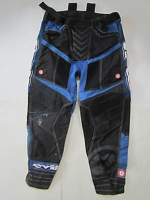 EVIL Paintball Pants BLUE AND BLACK W 34 L 30