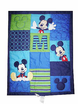 Disney - M Is For Mickey Mouse   Appliqued Crib Comforter - quilt
