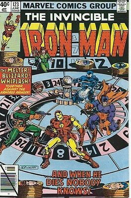 Iron Man #123  (Marvel 1979)  - Alcoholism Begins - Vfn Condition
