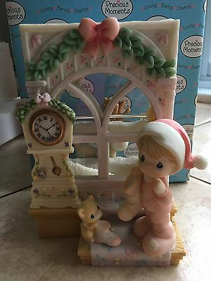 Precious Moments 2003 Window Of Wonder BoyClock Waterwheel #112421 BNIN