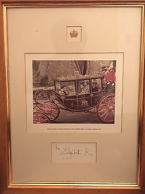 """Queen Mother Signed Photo - """"Lord Warden of the Cinque Ports at Dover Aug 1979"""""""