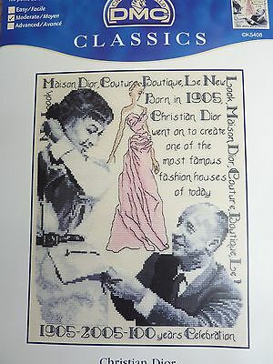 "Dmc Counted Cross Stitch Chart ""christian Dior"" Chart Only"