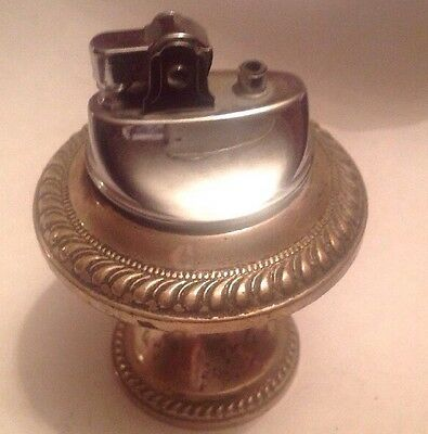 Vintage Weighted Table Top Standing Sterling Silver Lighter