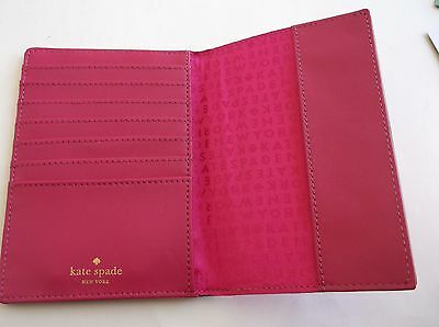 Kate Spade Grove Street Leather Passport Holder Case Wallet  Sweetheart Pink NWT