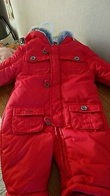 mothercare waterproof snowsuit all in one boys or girls