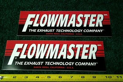 Lot of 2 Flomaster Exhaust Racing Decals NHRA NASCAR Hot Rod Stickers Pair