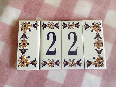 decorative house number tiles no 22