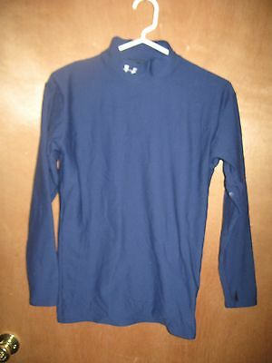 EUC--Men's Under Armour-(Size-Large)-Dark Blue compression-Long Sleeve Shirt