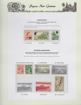 1957-1960 PNG PAPUA NEW GUINEA Surcharges Pictorial Definitives STAMP SET K-401