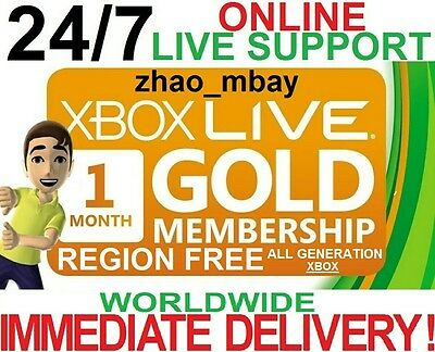 Xbox Live 1 Month GOLD Membership [NOT TRIAL] INSTANT DELIVERY!