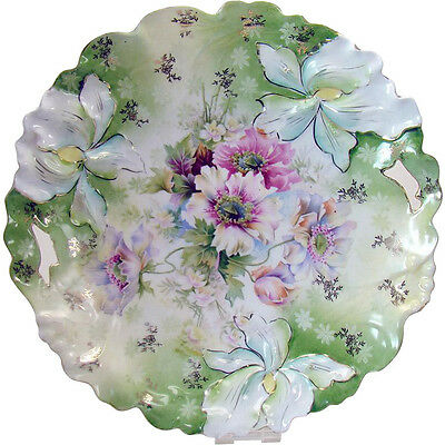 Hand-Painted R. S. Prussia Porcelain Platter with Two Handles