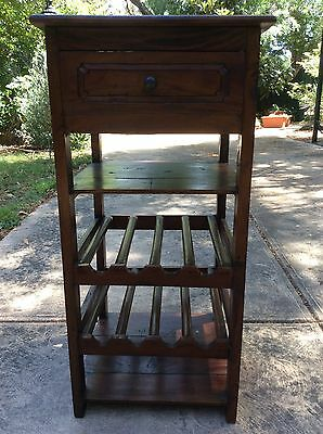 Wine Rack, Timber, Excellent Condition, 2 Wine Rack Shelves, 1 Drawer����