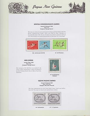 1962-1963 PNG PAPUA NEW GUINEA Commonwealth Games Red Cross STAMP SET K-404