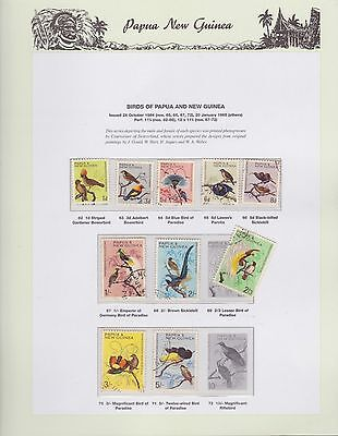 1964-1965 PNG PAPUA NEW GUINEA Birds STAMP SET K-408
