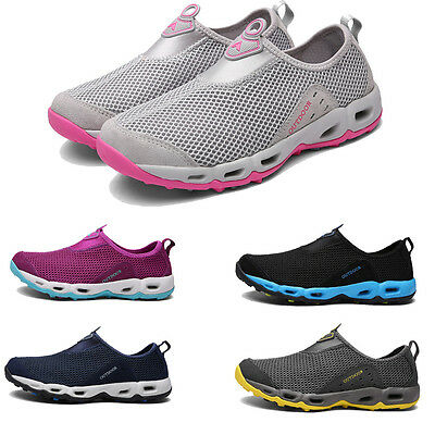 Women's Men's Mesh Sneakers Slip On Swim Running Outdoor Water Shoes