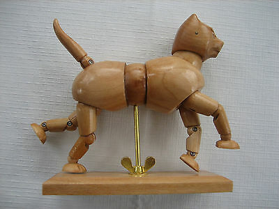 """Cat Mannequin Wood Figure Jointed Artist Drawing Model 5.5"""" Long"""