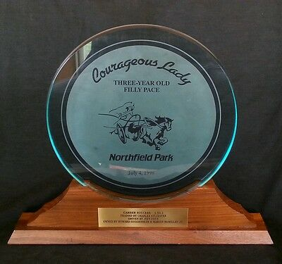 Horse Race trophy 1998 Courageous Lady Northfield Park, Career Success winner