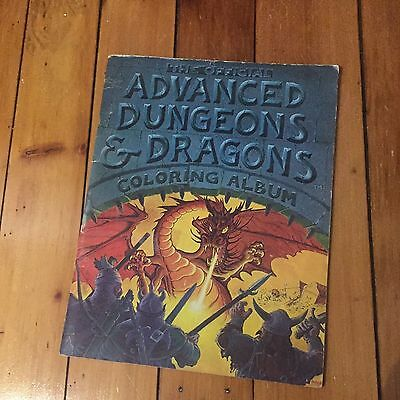 VTG 1979 Advanced Dungeons and Dragons Coloring Album D&D Fantasy Role Playing