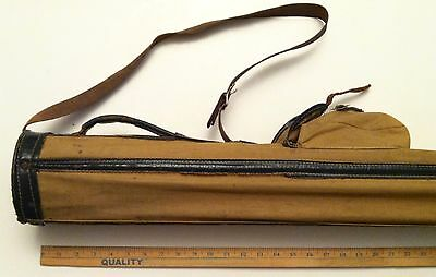 """Antique Stovepipe Golf Bag 34"""" Tall 4"""" Opening At The Top"""