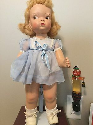 Terri Lee Composition Doll  Blonde Mannequin Wig LOOPY TAG Dress  1940s