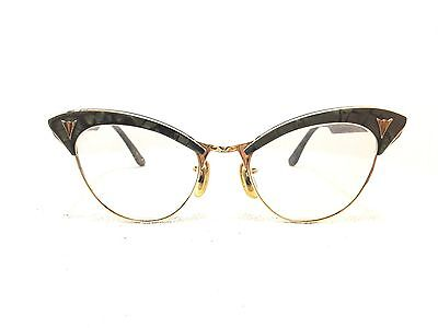 Fabulous Pair Of Vintage American Optical Cat Eye 1/10 12K. Gold Filled Glasses