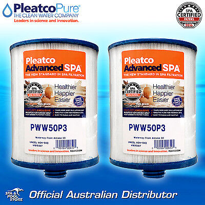 2 x Genuine OEM Pleatco PWW50P3 Pool Spa Water Filter - Signature Waterway 50