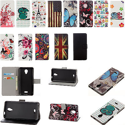 For Wiko Samsung Huawei LG Phone wallet Card Holder Leather Case Stand Cover GX
