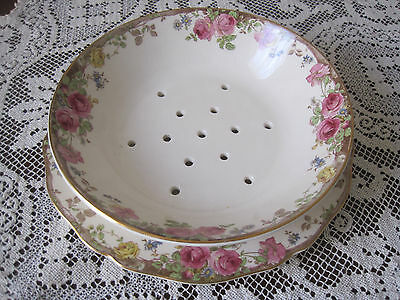 Beautiful Vintage Royal Doulton English Rose D6071 Drainer And Underplate