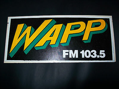 RARE Vintage WAPP 103.5 FM NY Radio Station BUMPER STICKER DECAL from 1980's