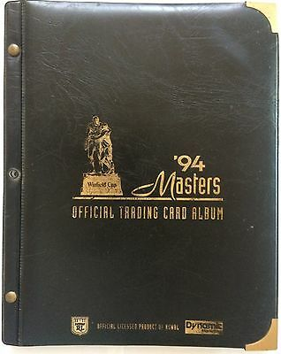 1994 Dynamic Masters Official Trading Card Album & Full Base Set - 110 Cards