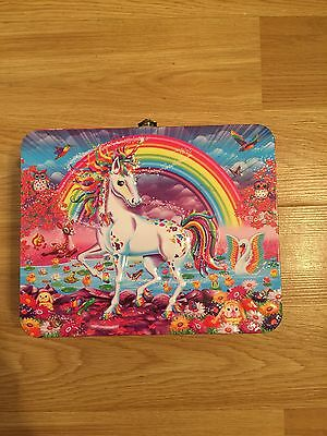 Lisa Frank Unicorn Puzzle Collectable Tin Lunch Box Colorful