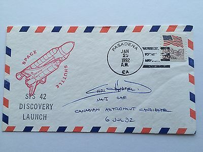 Chris Hadfield Signed Canadian Astronaut Candidate STS-42 Discovery Launch Cover
