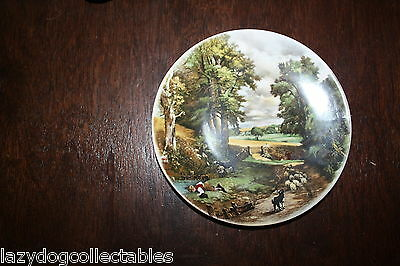 POOLE English China PLate Farming  Scene 15cm