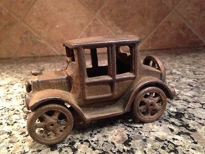 Vintage 1920's Cast Iron Model T Ford Coupe