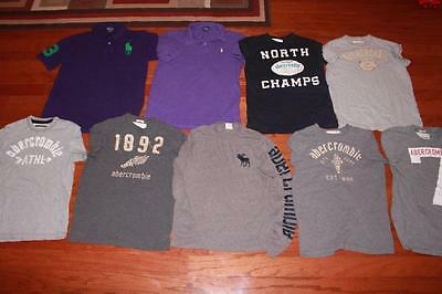 Lot 9 Youth Boys Abercrombie T Shirts Tees Polo Ralph Lauren Polos Big Pony Xl